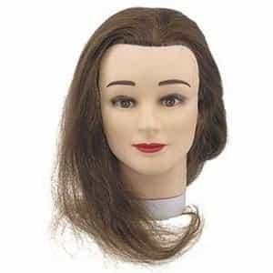 Голова учебная Sibel Student, шатенка, натуральные волосы, 35-40 см 0030201