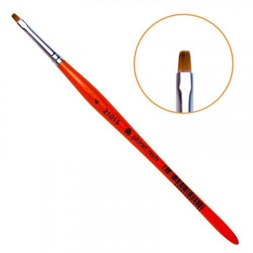 Кисть Planet Nails, для китайской росписи из синтетического волоса, квадратная, № 4 21015