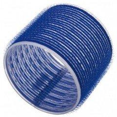 Бигуди Sibel на липучке, темно-синие, 80 мм 3 шт. 4168049