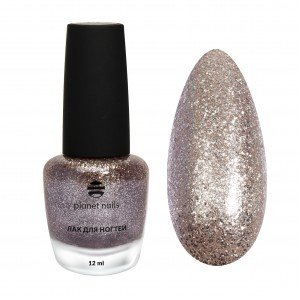 Лак для ногтей Planet Nails с глиттером, 602, 17 мл 13602