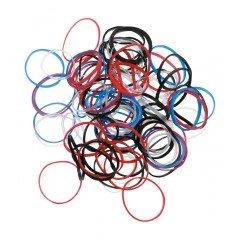 Резинки для волос Dewal, силиконовые, цветные, mini 100 шт/уп RES031