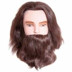 Голова учебная Sibel Karl, мужская с усами и бородой, натуральные волосы, 15-25 см 0030731
