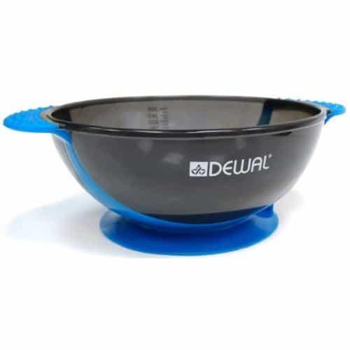 Чаша для краски Dewal, синяя, с двумя ручками с прорезиненной вставкой 300 мл T-18blue