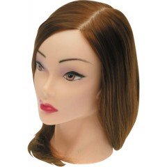 Голова учебная Dewal, шатенка, протеиновые волосы 30-40 см FI-2022M-6