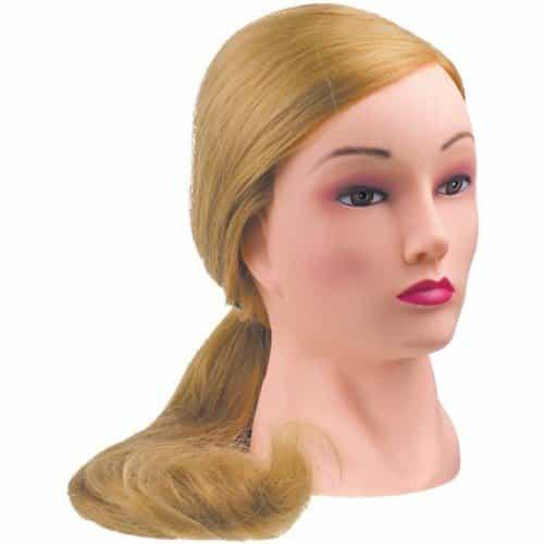 Голова учебная Dewal, блондинка, протеиновые волосы 50-60 см