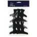 Зажимы Sibel пластмассовые широкие 12 шт. черные 932133202