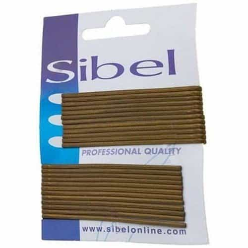 Невидимки Sibel гладкие коричневые, 70 мм, 24 шт 940017015