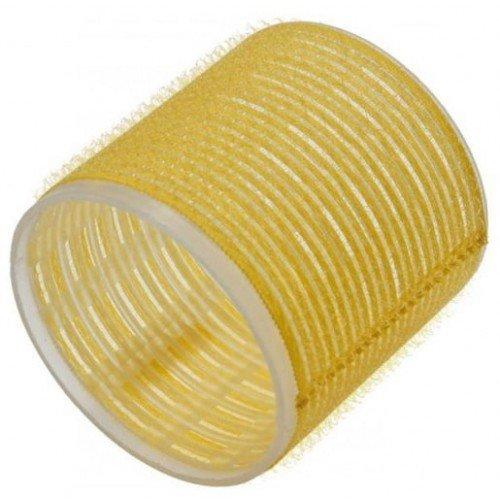 Бигуди Sibel на липучке, желтые, 66 мм 6 шт. 4167049