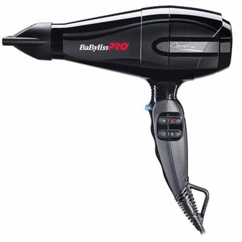 Купить Фен BaByliss Pro Caruso BAB6510IRE с ионизацией, мощностью 2400 Вт.