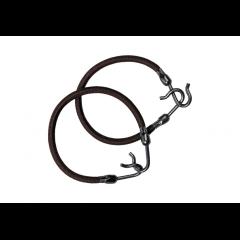 Резинка для волос Dewal, с крючком, коричневая 2 шт/уп MI-8014