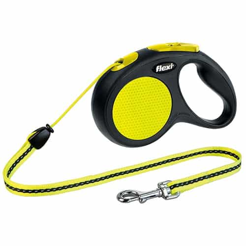 Поводок-рулетка для собак Flexi New Neon S трос