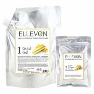 Альгинатная маска с золотом Ellevon гель + коллаген (1000 мл+100 мл)