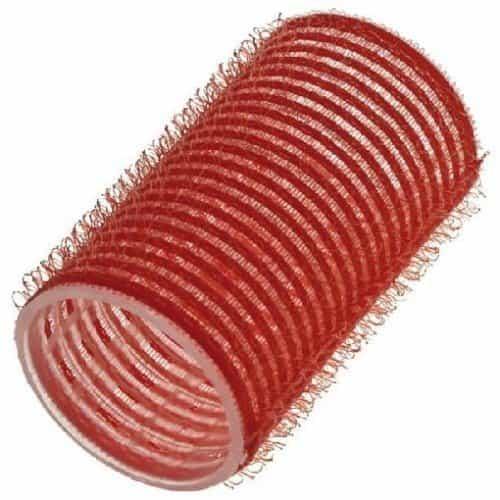 Бигуди Sibel на липучке, красные, 36 мм 12 шт. 4124049