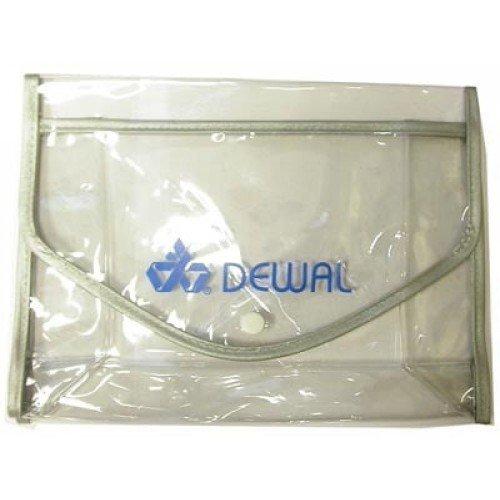 Косметичка Dewal полимерный материал, прозрачно-серая на кнопке 22x8x16 см p004