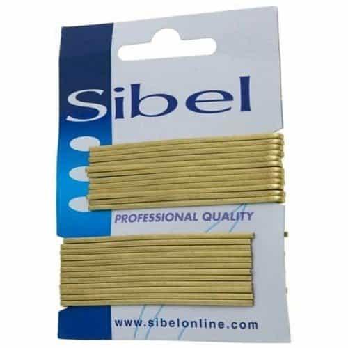 Невидимки Sibel гладкие белые, 70 мм, 24 шт 940017052