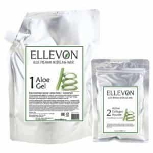 Альгинатная маска с алоэ Ellevon гель + коллаген (1000 мл+100 мл)