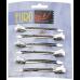 Зажимы Eurostil металлические серебристые, 6 шт/уп. 00093