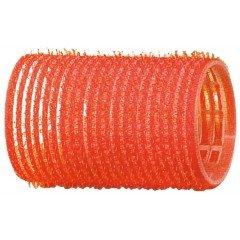 Бигуди-липучки Dewal красные, 36 мм, 12 шт/уп R-VTR4