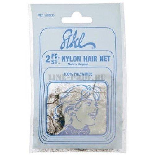 Сеточка для волос Sibel темно-коричневая, 2 шт 118023345