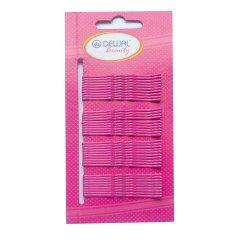 Невидимки Dewal Beauty розовые, 50 мм, 40 шт, волна N-40PINK
