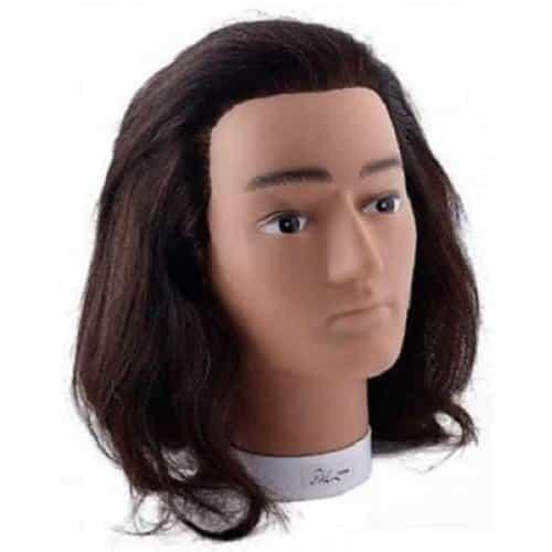 Голова учебная Sibel Bobby, мужская, натуральные волосы, 20-25 см 0030631