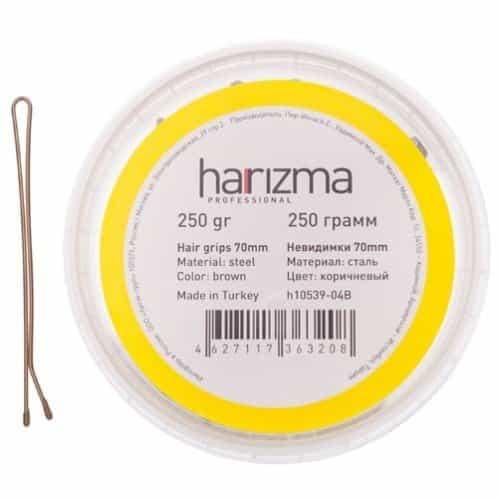 Невидимки Harizma 70 мм прямые 250 гр коричневые h10539-04B