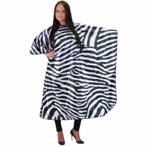 Пеньюар HairWay Zebra нейлоновый, водонепроницаемый, черно-белый 239x164 см 37666