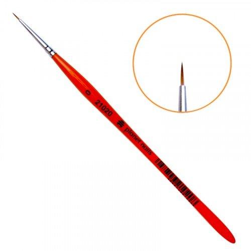 Кисть Planet Nails, для дизайна круглая, из синтетического волоса, № 0 21020