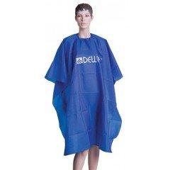 Пеньюар для стрижки Dewal, нейлон, голубой 128х140 см , на крючках GS-A001