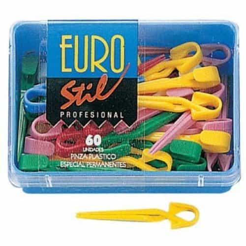 Зажимы для волос Eurostil пластиковые 00046
