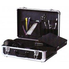 Чемодан для парикмахерских инструментов DEWAL, пластик,черный 45х30, 5х16 см