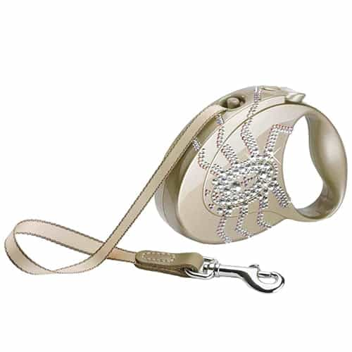 Поводок-рулетка для собак Flexi Glam Spider Sahara beige