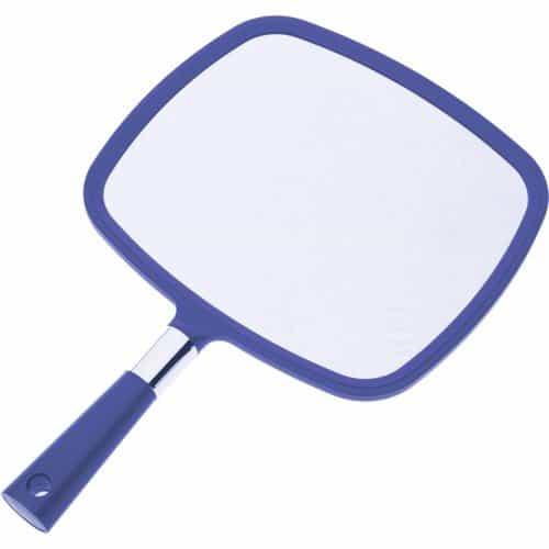 Зеркало заднего вида Dewal пластик синее с ручкой, 33,5x23 см MR-015