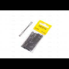 Шпильки Harizma 60 мм волна 30 шт черные h10543-15