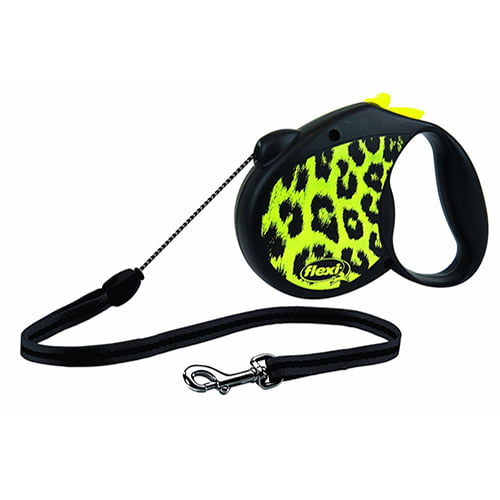 Поводок-рулетка для собак Flexi Leopard Safari S