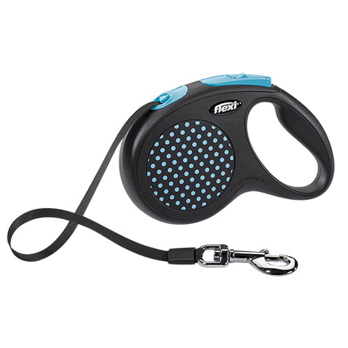 Поводок-рулетка для собак Flexi Design M/L 5 м ремень синий