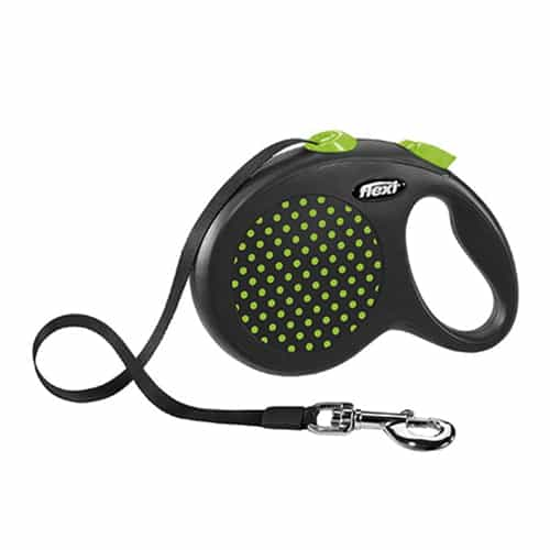Поводок-рулетка для собак Flexi Design L 5 м ремень зеленый