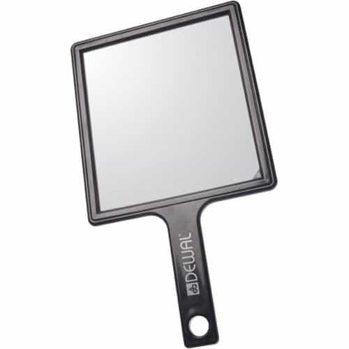 Зеркало заднего вида Dewal, пластик, черное с ручкой 21,5x23,5 см MR-052