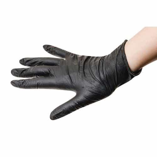 Перчатки Sibel латекс черные, 100 шт размер S 093800154