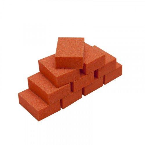 Мини баф для ногтей Planet Nails, зауженный, оранжевый, 10 шт в упаковке 20300