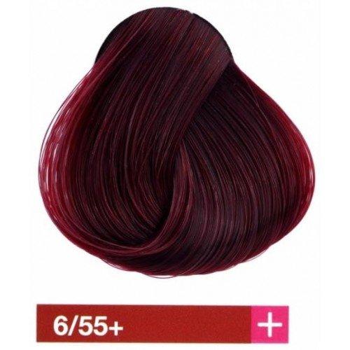 Крем-краска Lakme Collage+ Intense 6/55+, темный блондин интенсивный махагоново-красный 26559