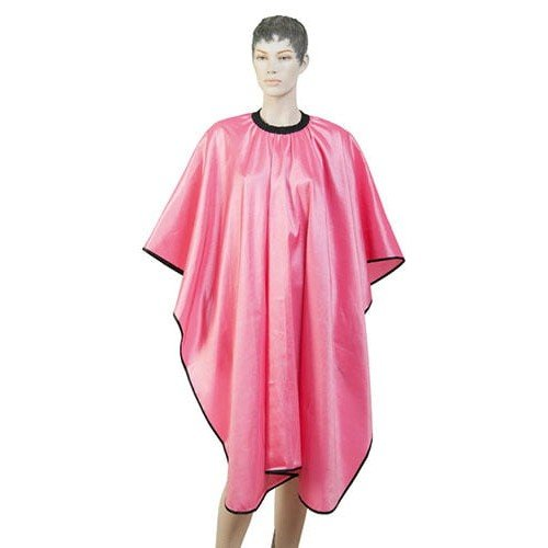 Пеньюар для стрижки Dewal Глянец, полиэстер, розовый 128x146 см, на крючках AA04Pink