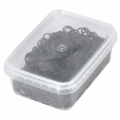 Резинки для волос Sibel, эластичные, черные 500 шт. 4432959
