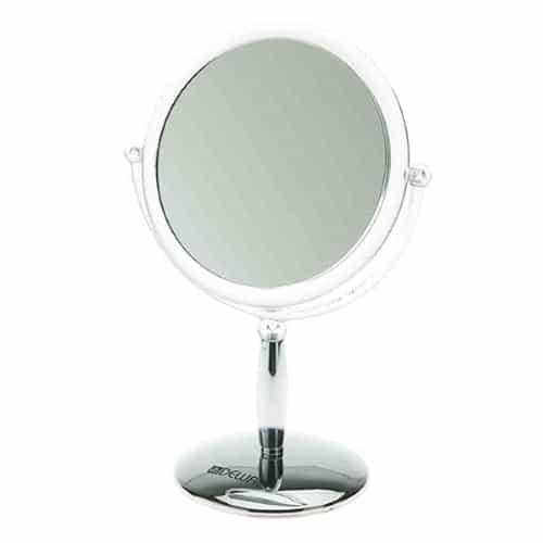 Зеркало настольное Dewal, пластик, серебристое 15x21,5 см MR-417