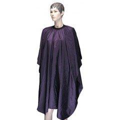 Пеньюар для стрижки Dewal Палитра, полиэстер, фиолетовый , 128x146 см, на крючках AA23violet