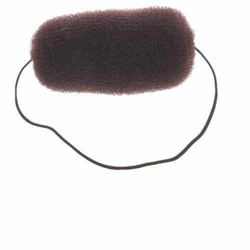 Валик для прически Dewal, сетка с резинкой, коричневый 12 см HO-5113 Brown