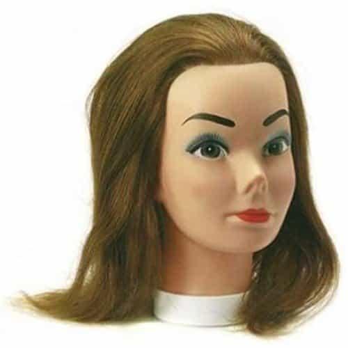 Голова учебная Sibel Candy, шатенка, натуральные волосы, 20-35 см 0030431
