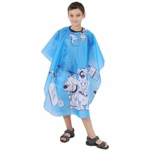 Пеньюар детский HairWay Children 2 нейлоновый, водонепроницаемый, голубой 95x120 см 37902