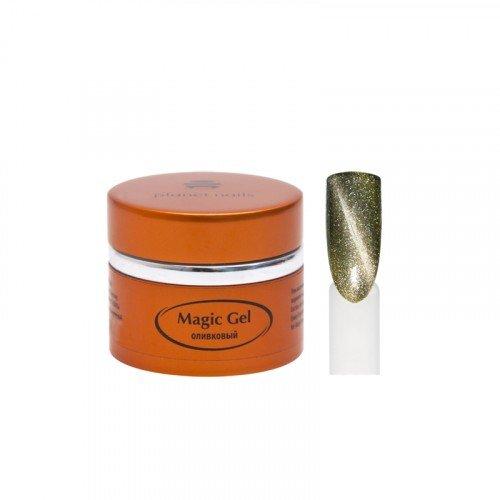 Гель Planet Nails, magic Gel, магнитный, оливковый, 5 г 11701