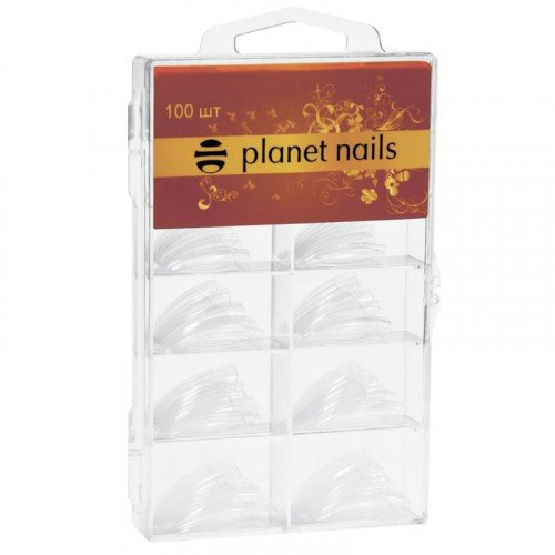 Типсы Planet Nails, прозрачные, 100 шт в упаковке, №1-10 17111